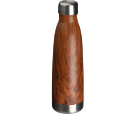 Stainless steel bottle with wooden look Tampa