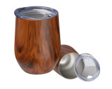 Stainless steel mug with wooden look Brighton