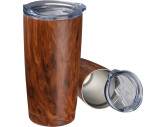 Stainless steel mug with wooden look Costa Rica